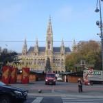 Rathausplatz Aufbau Wiener Christkindlmarkt