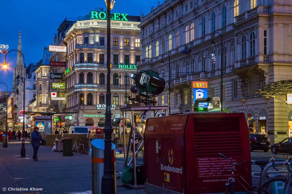 Lichtinstallation Gerry Hofstetter Staatsoper Wien