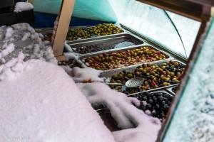 Oliven eisgekühlt