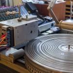 Hier werden die Vinyls gefräst