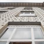 Am Balkon des Guverneurszimmers hat man einen schönen Blick auf die Fassade.
