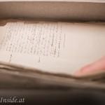 Handschriftliche Notizen teils noch von Otto Wagner