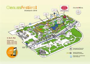 GenussFestival Stadtpark Wien Übersichtsplan 2016