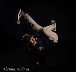"Der B-Boy ""Valo"", Sieger des Red Bull BC One Austria Cypher"