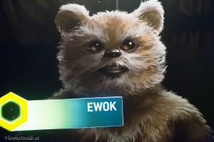 Ich hab mir den kleinen wuseligen Ewok ausgesucht. Die Ewoks sind ein auf dem Waldmond Endor lebendes Naturvolk und eine friedliebende und gastfreundliche humanoide Spezies.