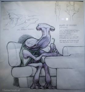 Auch Aliens wollen mal einen Drink zu sich nehmen.
