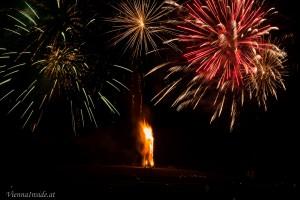 Ein grandioses Feuerwerk zeigten den Höhepunkt des Funkenbrandes an.