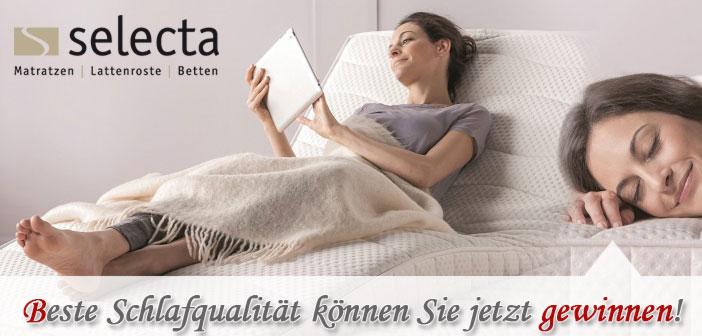 Gewinnspiel Gutscheine Selecta Matratzen Onlineshop