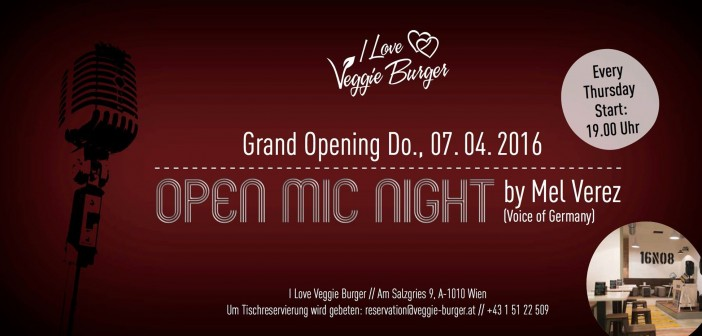 OPEN MIC NIGHT hosted by Mel Verez