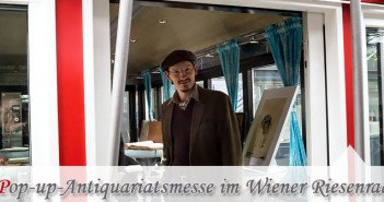 Pop-up-Antiquariatsmesse im Wiener Riesenrad