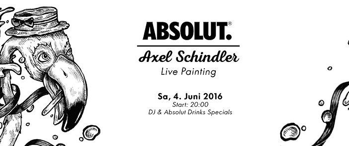 Absolut LIVE PAINTING mit Axel Schindler @Do-An