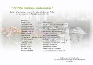 Anna Schalk Frühlingsgartenzauber Flyer