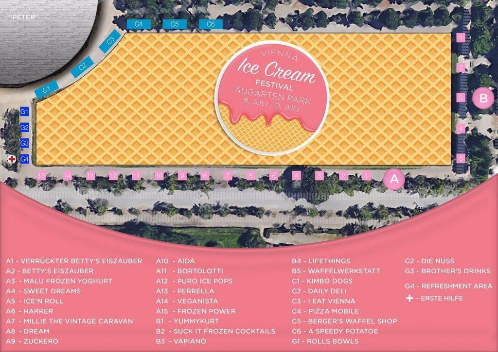 Vienna Ice Cream Festival 2017 Aussstellerplan