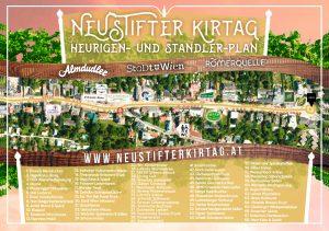 Neustifter Kirtag 2016 Heurigen und Standler Plan