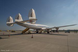 Das Flugzeug hat eine Gesamtlänge von 34,6 m und eine Flügelspannweite von 37,5 m