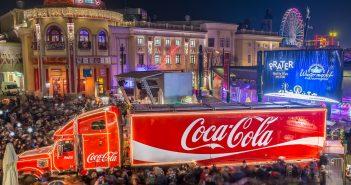 Coca-Cola Weihnachtstruck ist in Wien