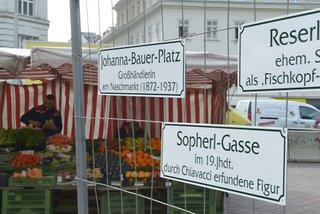 Frauenberger und Rumelhart präsentierten neue Projekte für den Naschmarkt