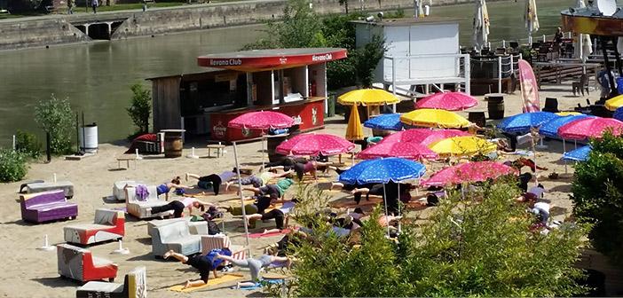 Yoga bei der Strandbar Herrmann