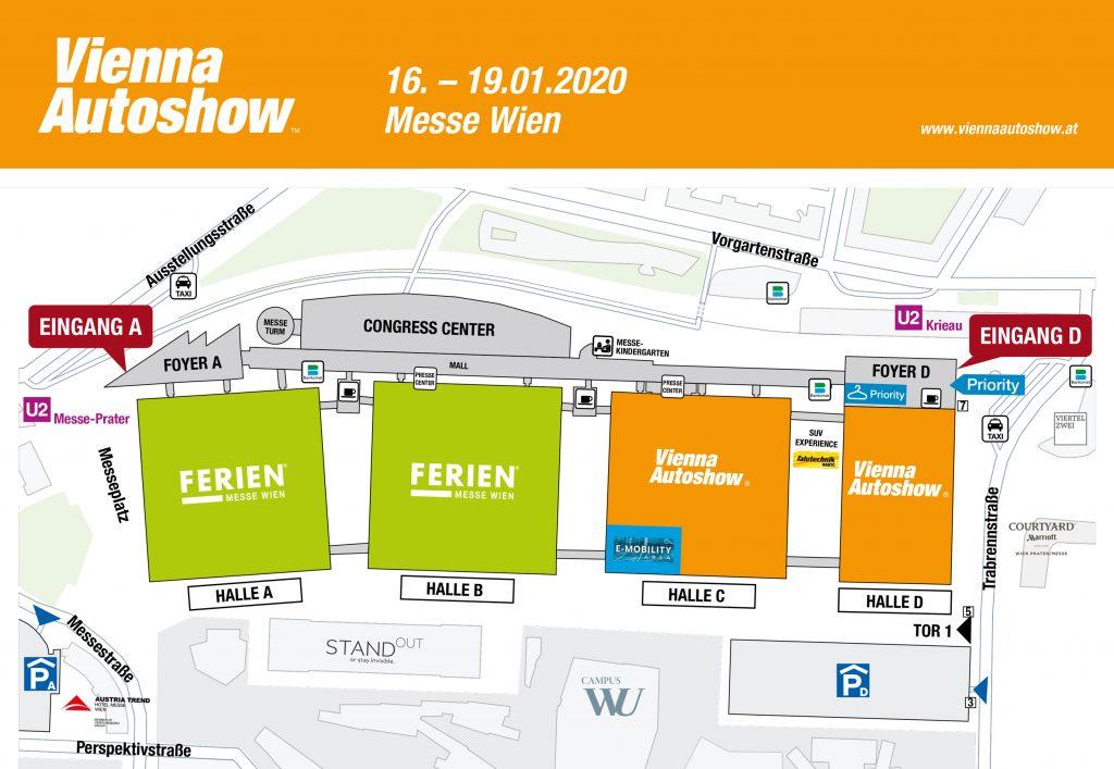 Hallenplan Vienna Autoshow 2020